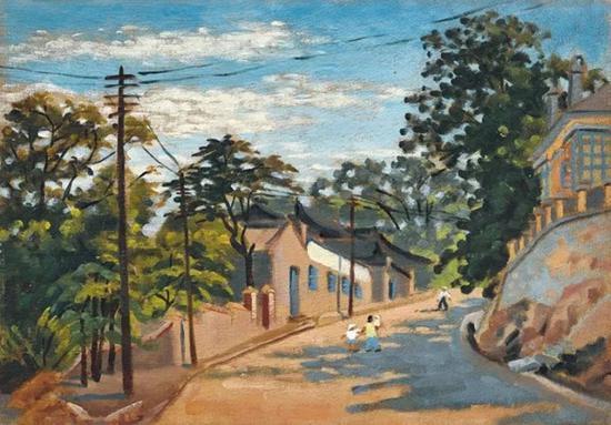 Lot.647 许幸之 《旅顺街景》1957年 布面油画 40.3×28.4cm