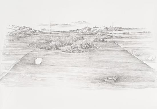 2017无法容纳的风景-山口待渡216x153cm