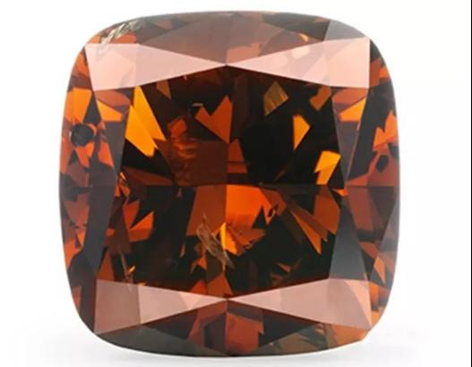 棕橙色钻石