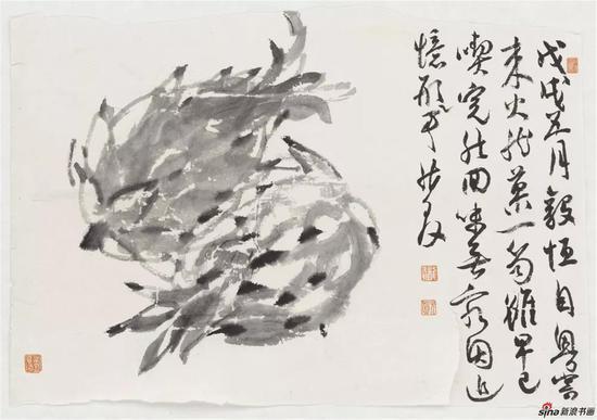 火龙果,纸本,35×24cm,2018年