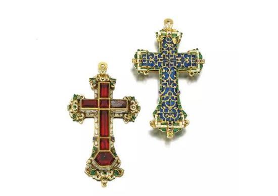 16世纪黄金珐琅十字架吊坠 2012年12月11日苏富比伦敦拍卖