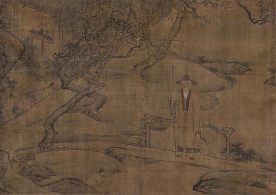 Lot 1274  袁耀(清) 高士图 绢本精心  题识:丙子清冬,邗上袁耀补景。  约7.2平尺  RMB:80,000-120,000