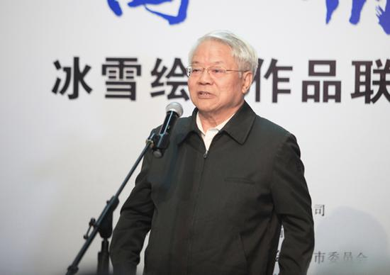 原文化部部长、国家艺术基金理事会理事长蔡武先生宣布展览开幕