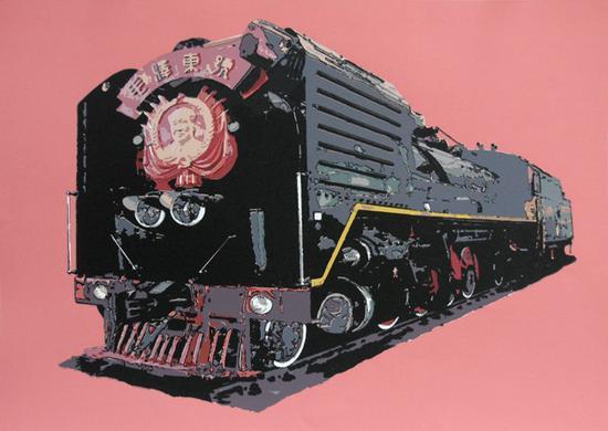 《火车No.2》 版画 纸本、丝网 49x69cm 2009年