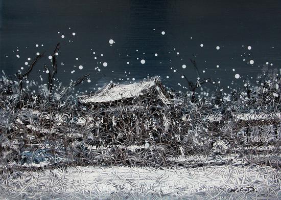 《江南·切片》系列-189 39x53cm 纸本油画 2018