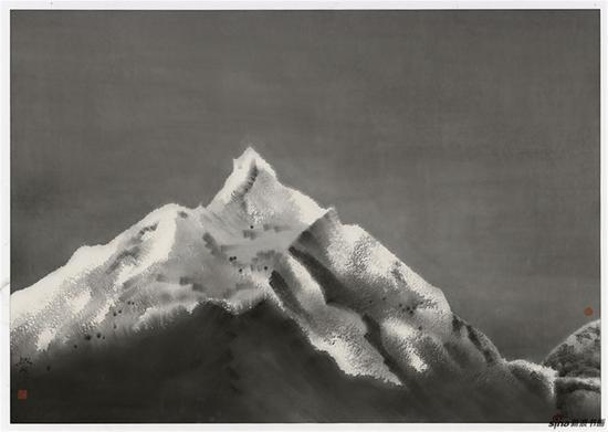 刘赦 2017-《雪峰》100cm×70cm 纸本水墨