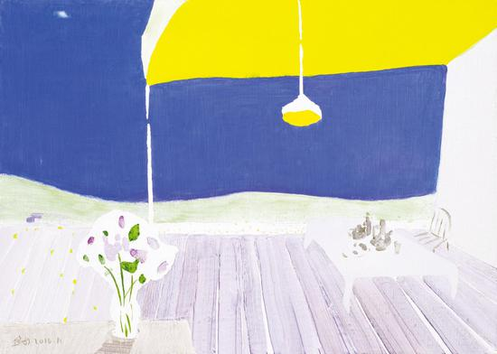 005 金田 Jin Tian丨窗外悠扬之十 Melody Outside the Window No.10丨布面油画 Oil on Canvas丨50×70cm丨2016