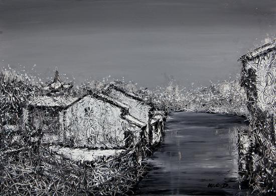 《江南·切片》系列-197 39x53cm 纸本油画 2018