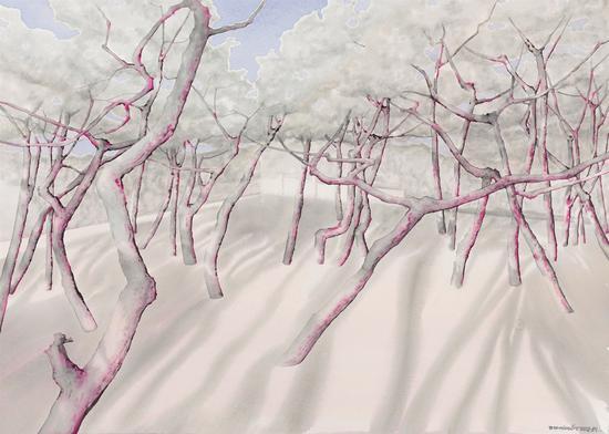 《傲骨--50》赵龙,105x75cm,纸上水彩2018