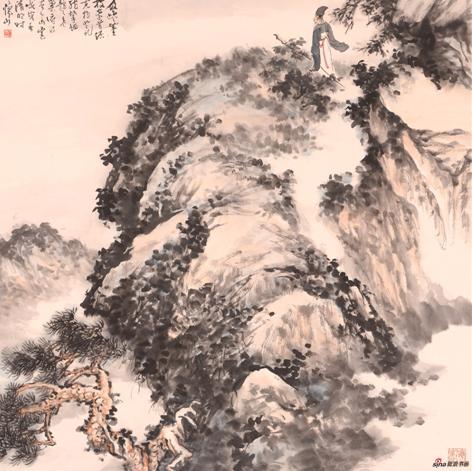 《观云图》68×68cm 2018年