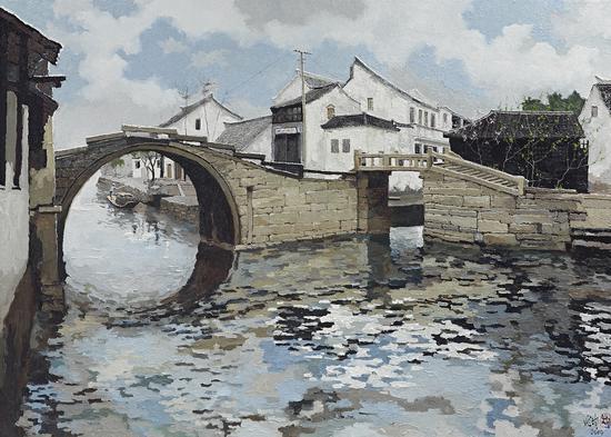 龎均,周庄双桥,2014,150x210cm