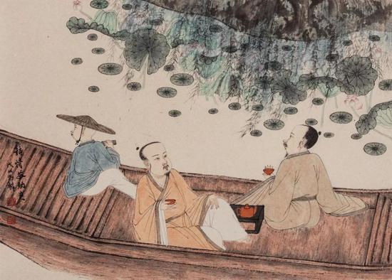 《识茶别水入山江》 2018年 40 x 56 cm 纸本