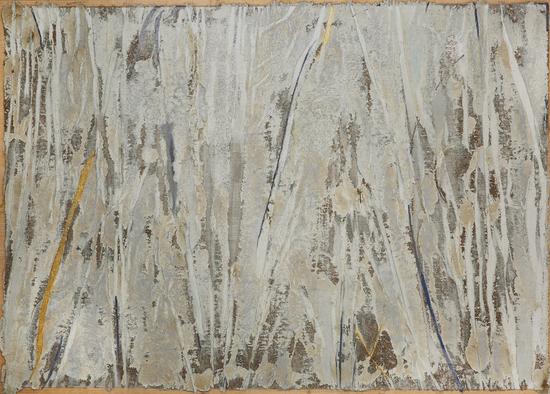 《记忆碎片·2》142×200cm大漆、苎麻、木屑 2018