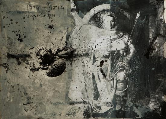 管策《拿破仑》 | 纸上综合材料 | 90 x67.5cm | 2018 | 图?上海喜玛拉雅美术馆