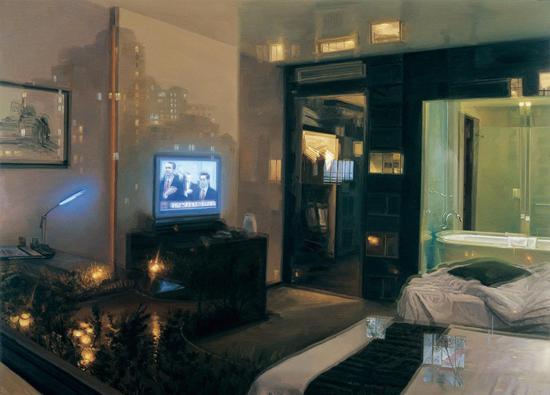 2010-2009 -看的见浴缸的房间 Room in sight of bathtub 180×250cm