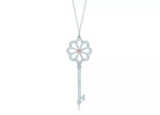 Tiffany花卉形钥匙吊坠