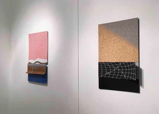 左: Andrea LaRose, 无题, 2018, 有机玻璃, 钢板, 丙烯, 58.4 x 35.5 x 7.5 cm右: Andrea LaRose, 无题, 2018, 有机玻璃, 钢板, 丙烯, 58.4 x 38 x 12.7 cm摄影: 宁画廊