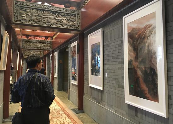 """""""墨韵飞扬——名家中国画精品沙龙展""""在北京星期八文化交流中心举办"""