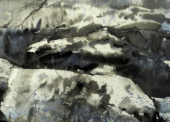 冯信群作品 洵声  水彩  76×56cm 2017