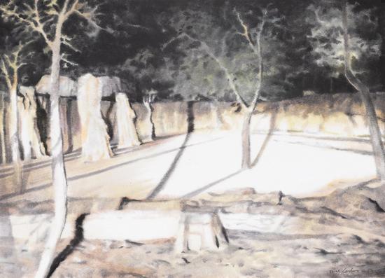 《巡--8》,赵龙,54x39cm,纸上水彩2016