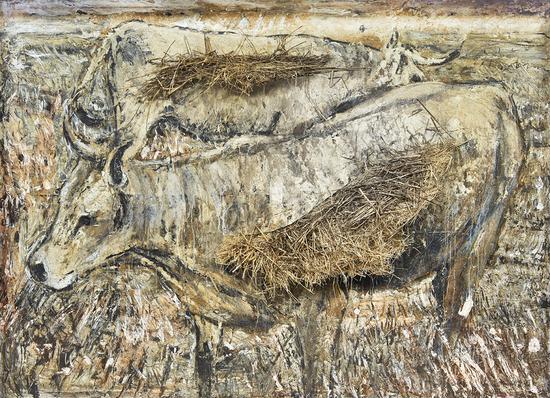 欧洲牛,1994-2010年,200x200x30cm,MAP收藏