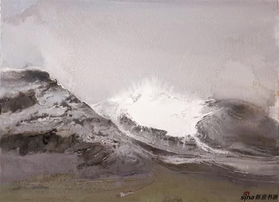 《长云暗雪山之三》纸本色粉56cmx77cm2018年