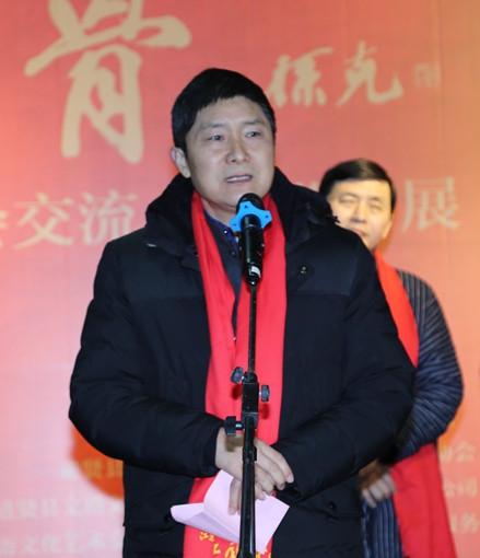 江苏省中国画学会副会长嵇亚林致辞