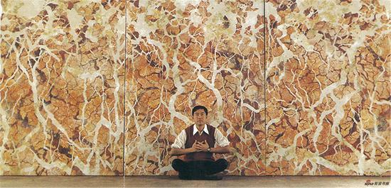 仇德树 作品资讯:为塔弗茨大学创作壁画裂变一一天人合一- 1985