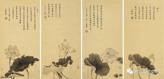 墨韵清荷系列 66cm×34cm×4