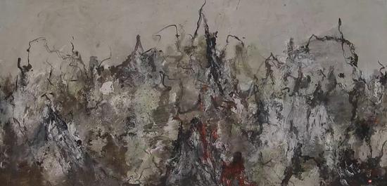吴林田《生如夏花》 生宣综合材料 138×69cm 2007
