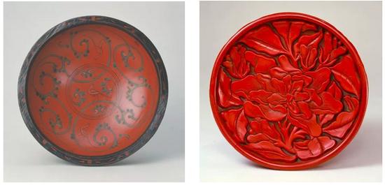 西汉漆器VS元代漆器