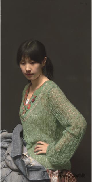 冷军 肖像之相-小姜 布面油画 110×60cm 2011年