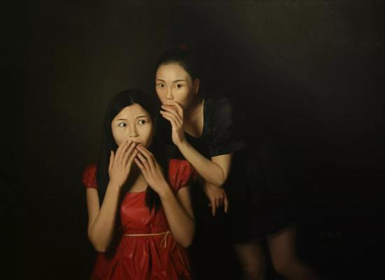 张明辉  【不能说的秘密】 100X72.5cm   布面油画    2016