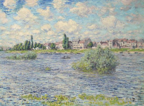 克劳德·莫奈(1840-1926) 《拉瓦古的塞纳-马恩省河风景》 1879年作 1583.75万美元