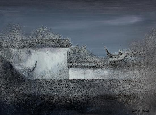 《江南·切片》系列-32 60x80cm 布面油画 2014