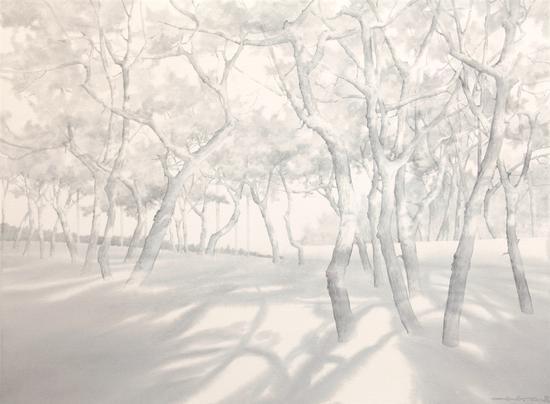 《傲骨--40》赵龙,74x57cm,纸上水彩2017