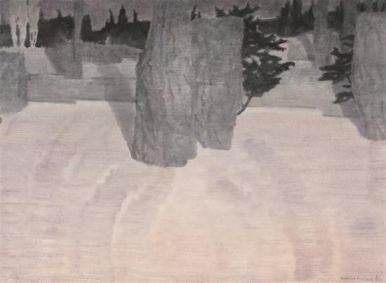 《巡--41》,纸上水彩,赵龙,56cm×76cm,2018