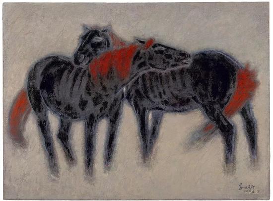 依 布面油画 130X175cm 2003年