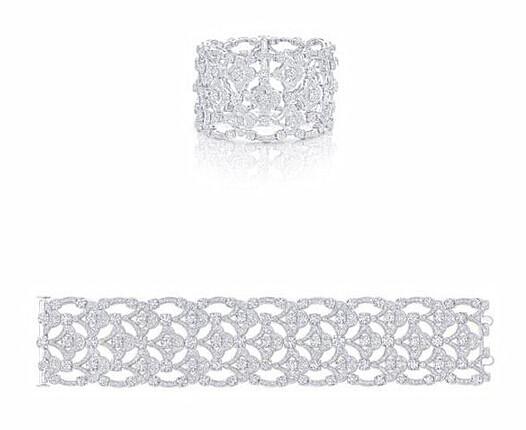 Graff 格拉夫 Icon系列圆形钻石手镯,钻石共重36.12克拉