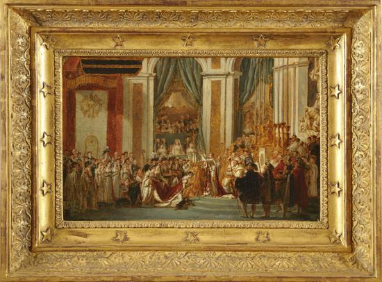 雅克-路易·大卫《拿破仑加冕礼》 | 布面油画 | 43 x 57.5 cm | 1804年| 图?上海喜玛拉雅美术馆