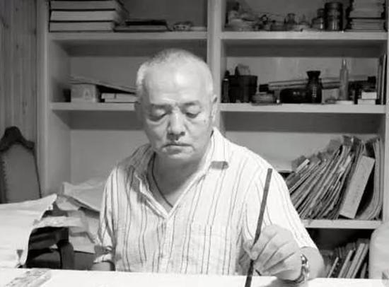 朱新建(1953~2014)左手作画