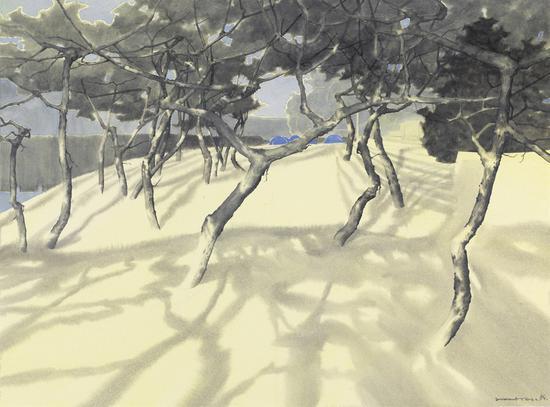 《傲骨--44》赵龙,74x57cm,纸上水彩2018