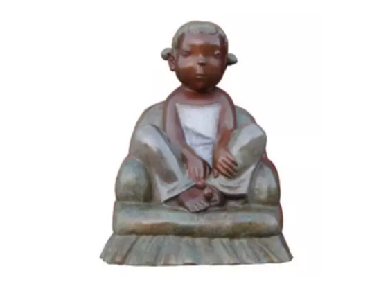 《亲亲宝贝》63×52×50cm青铜着色 2016年