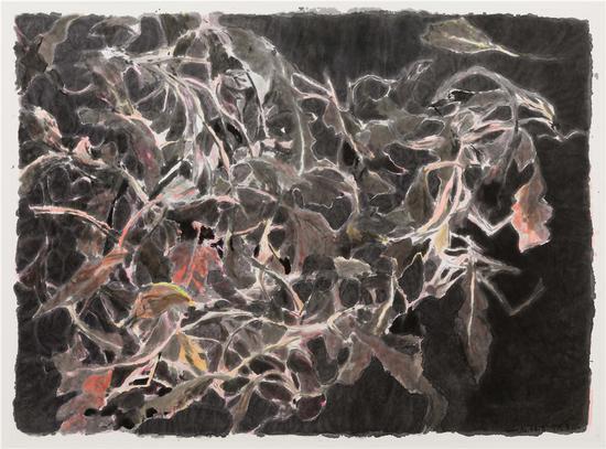 邬一名 荠菜 5 2018 宣纸上水墨 192 x 265 cm