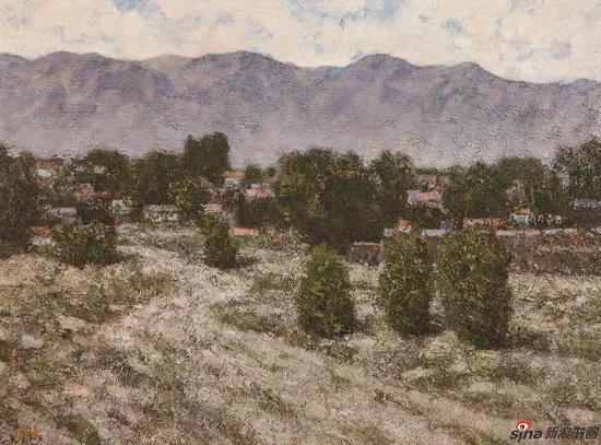 《天山脚下》73X54cm 油画