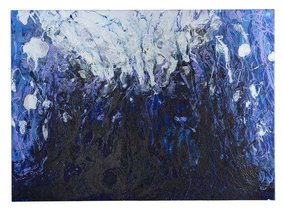 《劲·进—侵7》80x110cm 水性树脂 2014