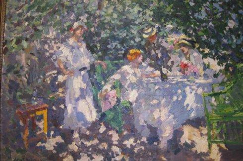 在花园(柯洛文,1914)