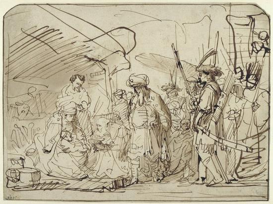 《三王朝拜》(The adoration of kings),Gerbrand van den Eeckhout,1635-1640年