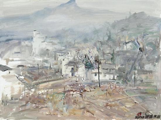 王浩辉 皖南山村 60×80cm 2016 布面油画