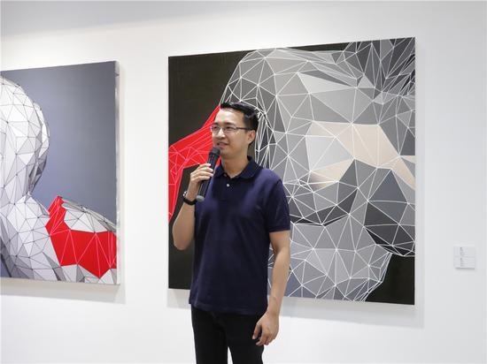 展览策展人、中央美术学院艺术管理与教育学院陈旷地博士致辞